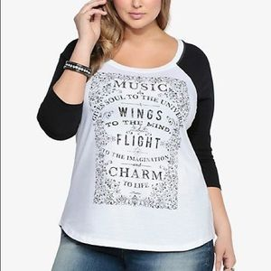 Torrid Plato music quote shirt